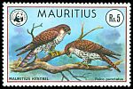 Cl: Mauritius Kestrel (Falco punctatus)(Endemic or near-endemic)  SG 560 (1978) 1100