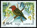 Cl: Red-headed Fody (Foudia eminentissima algondae) <<Foudy>>  SG 173d (2002)  [5/15]