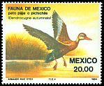 Cl: Black-bellied Whistling-Duck (Dendrocygna autumnalis) <<Pichichile>>  SG 1704 (1984) 25