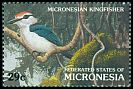 Cl: Micronesian Kingfisher (Todirhamphus cinnamominus)(Endemic or near-endemic)  SG 237 (1991) 55