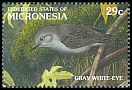 Cl: Grey White-eye (Zosterops cinereus) SG 249 (1991)