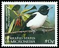 Cl: Yap Monarch (Monarcha godeffroyi)(Endemic or near-endemic)  SG 632 (1998)