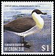 Cl: Pomarine Jaeger (Stercorarius pomarinus)(I do not have this stamp)  new (2014)