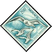Cl: Unidentified (Nil desperandum) <<Mouettes>> (Stylised)  SG 509 (1955) 1800