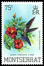 Cl: Green-throated Carib (Eulampis holosericeus)(Repeat for this country)  SG 572 (1983)