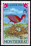 Cl: Glossy Ibis (Plegadis falcinellus)(Repeat for this country)  SG 750 (1988)