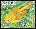 Cl: Golden White-eye (Cleptornis marchei)(Out of range and no other stamp)  SG 602a6 (2005)  [6/9]