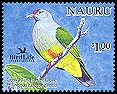 Cl: Cook Islands Fruit-Dove (Ptilinopus rarotongensis)(Out of range)  SG 602c3 (2005)  [6/9]
