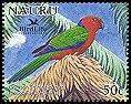 Cl: Crimson Shining-Parrot (Prosopeia splendens)(Out of range and no other stamp)  SG 602b3 (2005)  [6/9]
