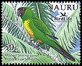 Cl: Masked Shining-Parrot (Prosopeia personata)(Out of range)  SG 602b2 (2005)  [6/9]