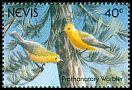 Cl: Prothonotary Warbler (Protonotaria citrea) SG 608 (1991)