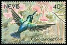 Cl: Green-throated Carib (Eulampis holosericeus) SG 613 (1991)