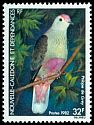 Cl: Red-bellied Fruit-Dove (Ptilinopus greyi) <<Ptilope de Grey>>  SG 684 (1982) 80