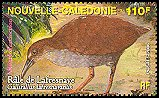 Cl: New Caledonian Rail (Gallirallus lafresnayanus) <<Rale de Lafresnaye>> (Endemic or near-endemic)  SG 1380c (2006)  [5/30]
