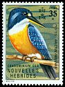 Cl: Chestnut-bellied Kingfisher (Todirhamphus farquhari) SG 164 (1972) 65