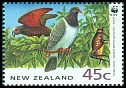 Cl: New Zealand Pigeon (Hemiphaga novaeseelandiae)(Endemic or near-endemic)  SG 1739 (1993)
