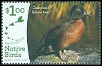 Cl: Campbell Islands Teal (Anas nesiotis) SG 3904 (2017)  [11/25]
