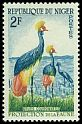 Cl: Black Crowned-Crane (Balearica pavonina) <<Grues couronnees>>  SG 101 (1959) 40