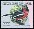 Cl: Crimson-breasted Gonolek (Laniarius atrococcineus) <<Gonolek rouge et noir>> (Out of range) (not catalogued)  (2000)