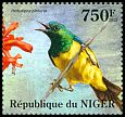 Cl: Pygmy Sunbird (Hedydipna platura)(I do not have this stamp) (not catalogued)  (2013)  [8/21]