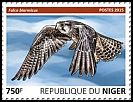 Cl: Lanner Falcon (Falco biarmicus)(I do not have this stamp) (not catalogued)  (2015)