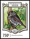 Cl: Pearl-spotted Owlet (Glaucidium perlatum)(Repeat for this country) (I do not have this stamp) (not catalogued)  (2015)