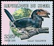 Cl: Trumpeter Hornbill (Ceratogymna bucinator) <<Calao trompette>> (Out of range and no other stamp) (not catalogued)  (2000)