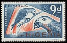 Cl: Grey Parrot (Psittacus erithacus)(Repeat for this country)  SG 179 (1965) 300 [2/17]