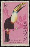 Cl: Black-mandibled Toucan (Ramphastos ambiguus) <<Pico feo (tucan)>>  SG 915 (1965) 5 [3/20]