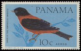 Cl: Crimson-backed Tanager (Ramphocelus dimidiatus) <<Sangre de toro>>  SG 920 (1965) 25 [3/20]