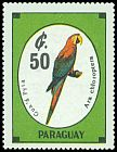 Cl: Red-and-green Macaw (Ara chloroptera) <<Gua '&aacute; Pyta>>  SG 1281 (1989)