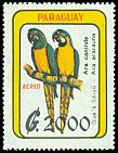 Cl: Blue-and-yellow Macaw (Ara ararauna)(Repeat for this country)  SG 1286 (1989)