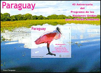 Cl: Roseate Spoonbill (Platalea ajaja) <<Esp&aacute;tula Rosada>> (I do not have this stamp)  SG 1935 (2012)  [8/14]
