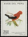 Cl: Andean Cock-of-the-rock (Rupicola peruviana) <<Tunqui>> (Repeat for this country)  SG 1133 (1972) 40 [2/32]
