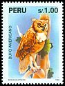 Cl: Great Horned Owl (Bubo virginianus) <<Buho americano>>  SG 1856 (1995)