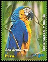 Cl: Blue-and-yellow Macaw (Ara ararauna) <<Guacamayo azul y amarillo>> (Repeat for this country)  SG 2399 (2006)  [5/17]