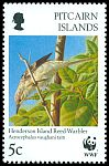 Cl: Henderson Island Reed-Warbler (Acrocephalus taiti)(Endemic or near-endemic)  SG 504 (1996)