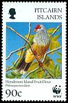 Cl: Henderson Island Fruit-Dove (Ptilinopus insularis)(Endemic or near-endemic)  SG 507 (1996)
