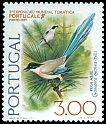 Cl: Azure-winged Magpie (Cyanopica cyana) <<Pega-azul>>  SG 1618 (1976) 10