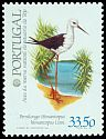 Cl: Black-winged Stilt (Himantopus himantopus) <<Pernilongo>>  SG 1890 (1982) 90
