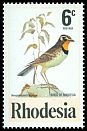 Cl: Orange-throated Longclaw (Macronyx capensis) SG 539 (1977) 25