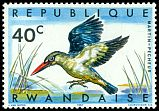 Cl: Woodland Kingfisher (Halcyon senegalensis) <<Martin-pêcheur>>  SG 240 (1967) 8