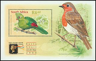 Cl: Knysna Turaco (Tauraco corythaix)(Endemic or near-endemic)  SG 1170 (2000) 200