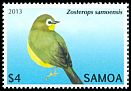 Cl: Samoan White-eye (Zosterops samoensis)(Endemic or near-endemic)  SG 1250 (2013)  [5/24]