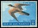 Cl: Eurasian Kestrel (Falco tinnunculus) <<Falco>> (Repeat for this country)  SG 565 (1959)