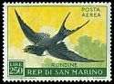 Cl: Barn Swallow (Hirundo rustica) <<Rondine>>  SG 568 (1959) 225