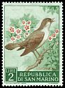Cl: Common Nightingale (Luscinia megarhynchos) <<Usignuolo>>  SG 594 (1960) 10