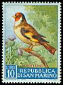Cl: European Goldfinch (Carduelis carduelis) <<Cardellino>>  SG 598 (1960) 10