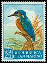 Cl: Common Kingfisher (Alcedo atthis) <<Martin pescatore>>  SG 599 (1960) 55