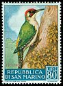 Cl: Green Woodpecker (Picus viridis) <<Picchio>>  SG 601 (1960) 300